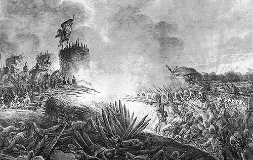 Штурм Праги 1794 г., (рисунок Александра Орловского 1797) - Massacre of Praga/ 1794 (a sketch by Aleksander Orlowski. 1797)