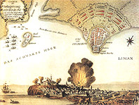 План крепости Очаков - 6(17).12.1788 - The plan of turkish fortress Ochakov assaulted by Russian army
