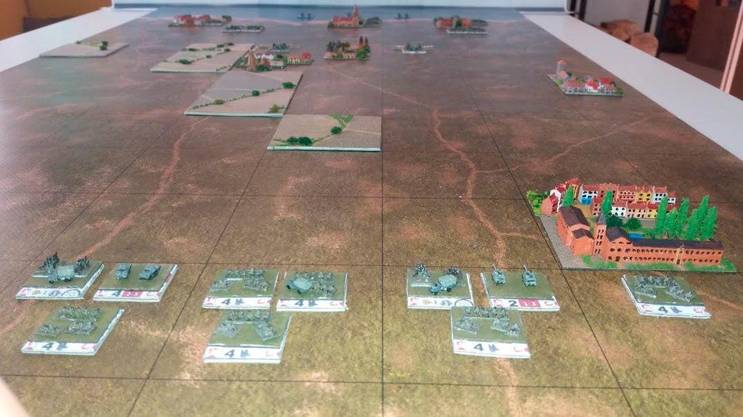 Coastal plain 1/285 (6mm)  The battlemat for wargames