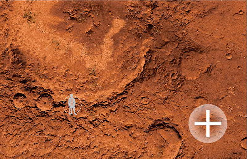 The Martian plain 6'x4' (bm025) 'Martians Wars'