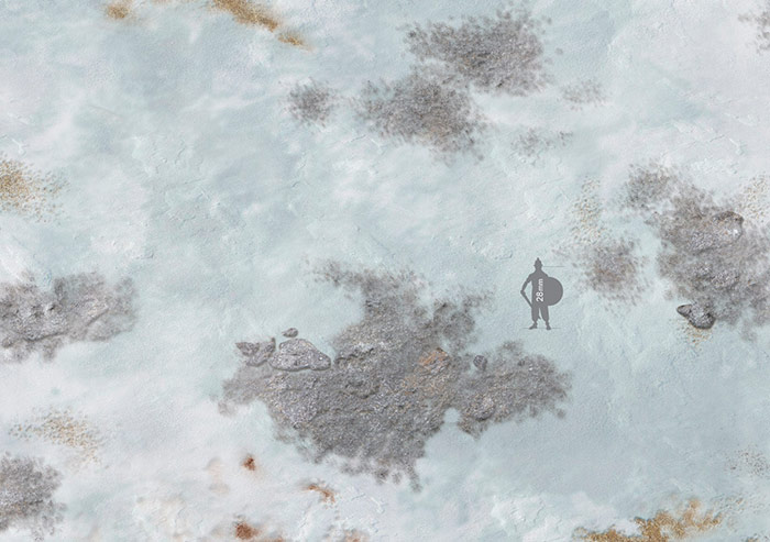 Wargame Battle mat (Frozen Town)