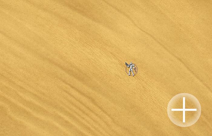 """The Battlemat (063) Desert plain """"Sahara"""""""