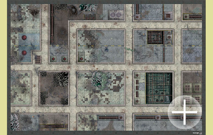 The Battlemat (bd0026) Ruined streets (10mm or 6mm)