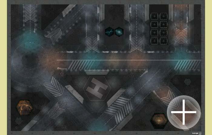 The Battlemat (bd009) Neon City