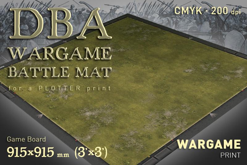 DBA Wargame Battle mat (Grass plain 014)
