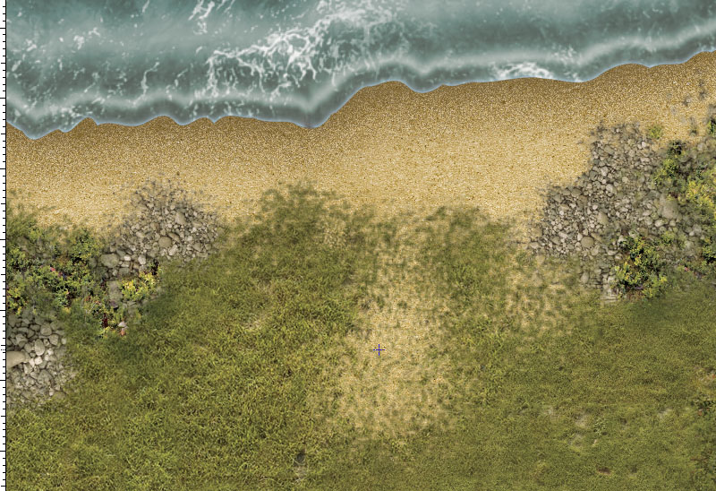 DBA Battle mat (1142) Grass Littoral Plain