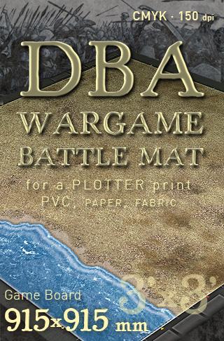 DBA Arid plain. Wargame Battlemat Battleboard image