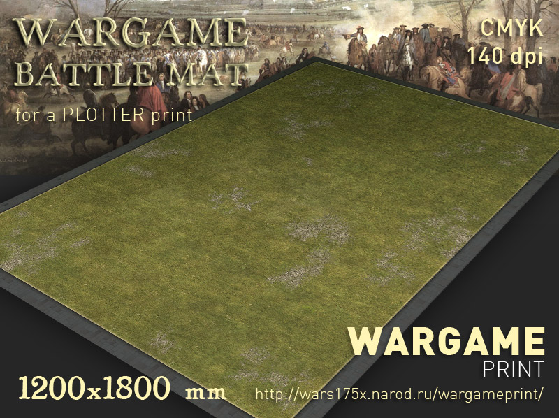 Wargame Battle mat (Grass plain 014)