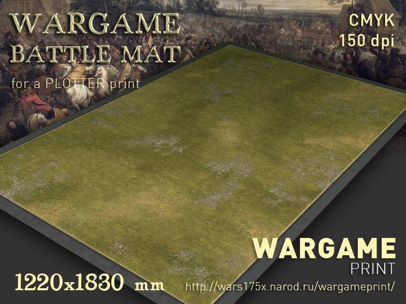 Wargame Battle mat (Grass plain 015)