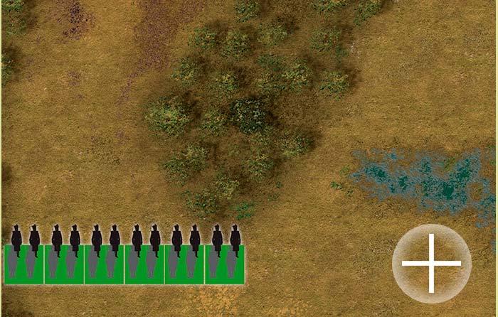 First Battle of Tuiuti (hb001) Left Brazilian flank. The Battlemat 6x4