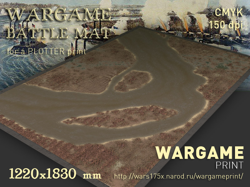 Wargame Battle mat (Mississippi River 057s)
