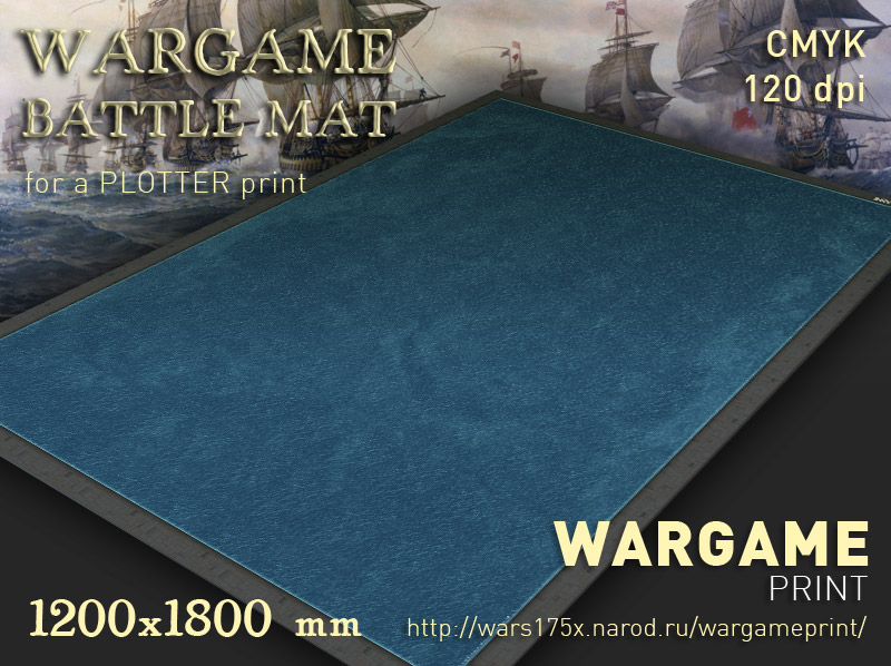 Wargame Battle mat (Sea plain 052)