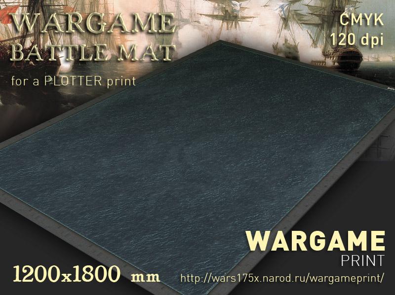 Wargame Battle mat (Sea plain 053)