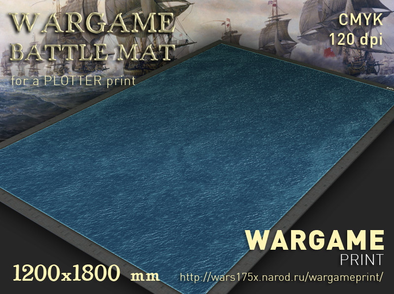 Wargame Battle mat (Sea plain 054)