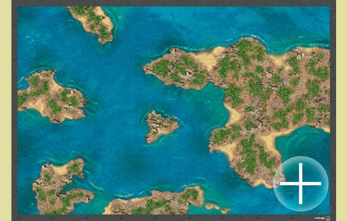 The Battlemat (ss004) Caribbean islands and beaches