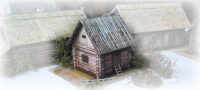 The paper model: Russian Granary. 28 mm Scale and less...