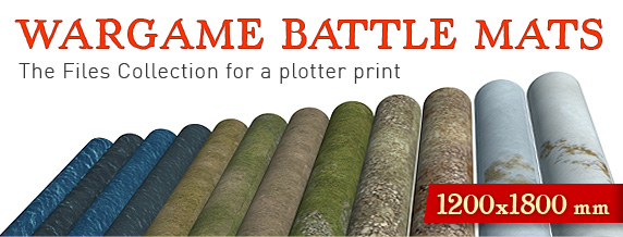 Wargame Battle mats The Files Collection for a plotter print