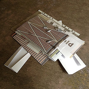 Foldable paper buldings model set 1/285 Assembly