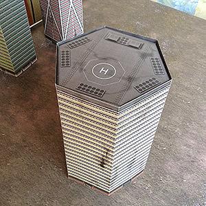 Foldable paper buldings model set 1/285 Assembly