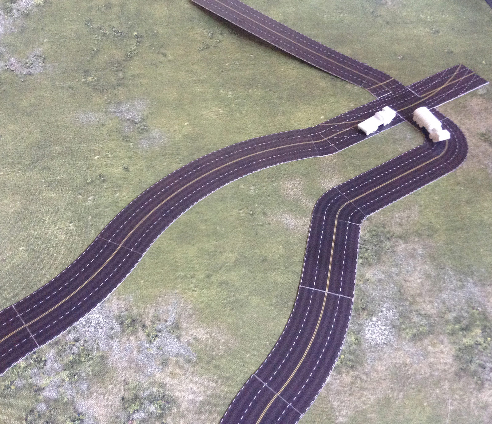 The roads set 1/285 (6mm)  Modular Paper 2D Scenery System