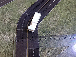 The roads set 1/285 (6mm). Modular Paper 2D Scenery System.