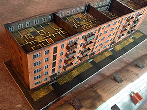 Soviet's buildings series 'Khrushchev'ka' paper model set 1/285 (6mm)