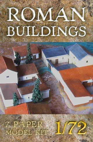 Antique Roman buildings. Paper scenery models.