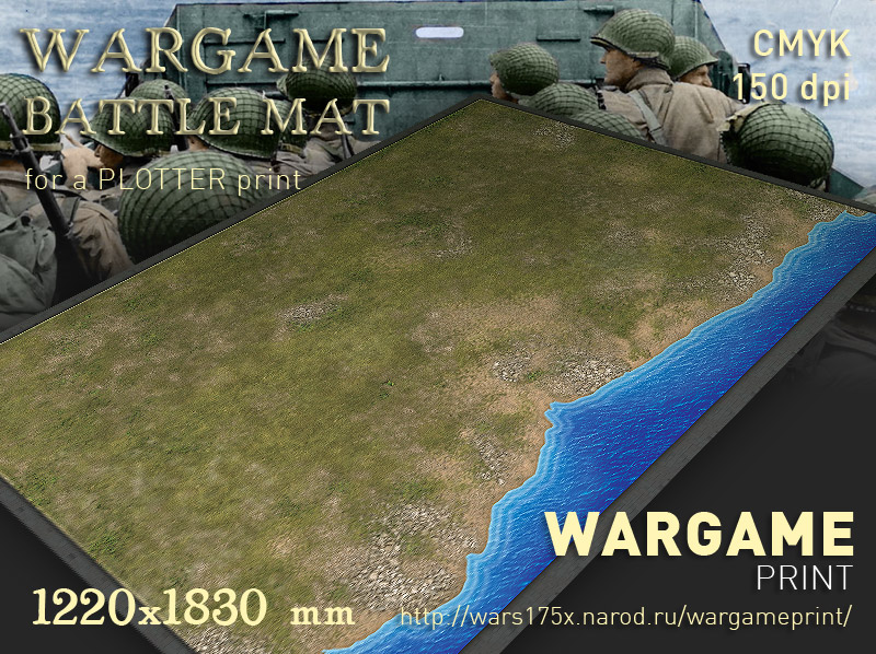 Wargame Battle mat (Coastal plain  032)
