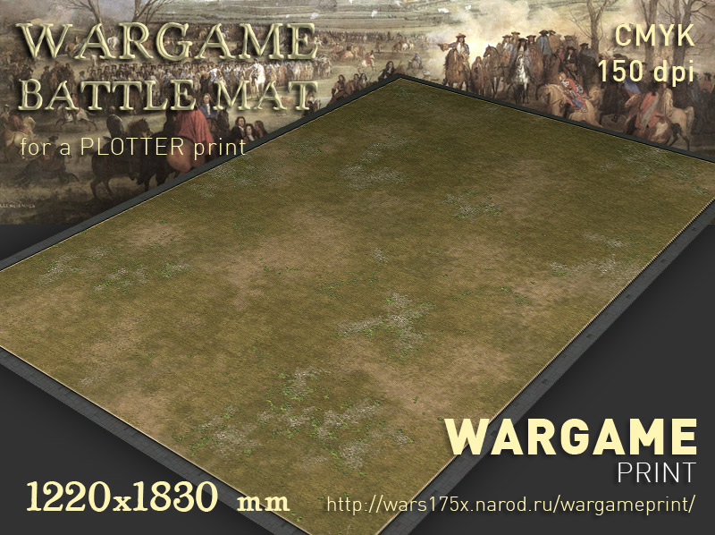 Wargame Battle mat (Grass plain 011)