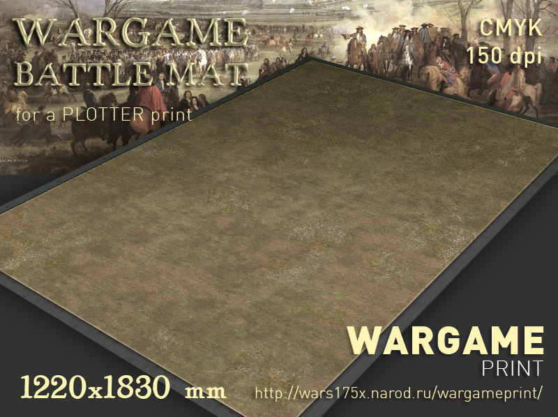 Wargame Battle mat (Grass plain 012)
