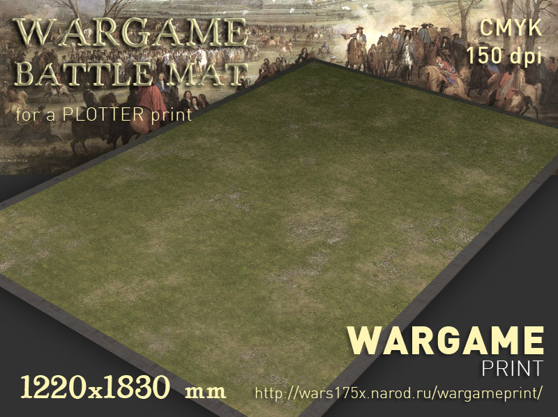 Wargame Battle mat (Grass plain 013)