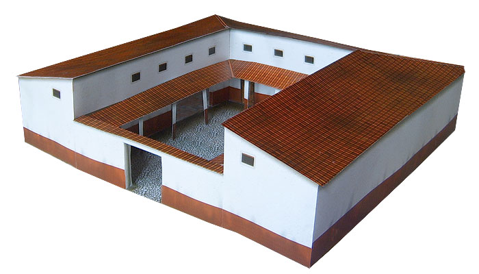 Paper model: Antique Roman Provincial Forum 1/72