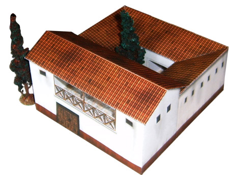 Model of ancient roman house