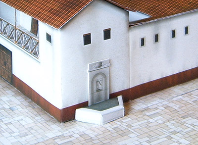 Paper model: Roman house (villa) 1/72