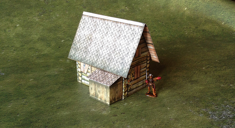 Paper model: The Fantasy House. 28 mm