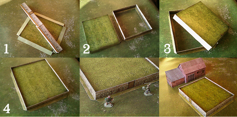 Paper model: The Fenced Fields. 28 mm