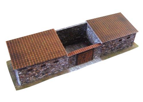 Paper model: Roman house 1/72