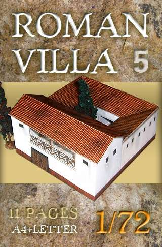 Castra Romana (Ordinary Marching camp). Paper scenery models.