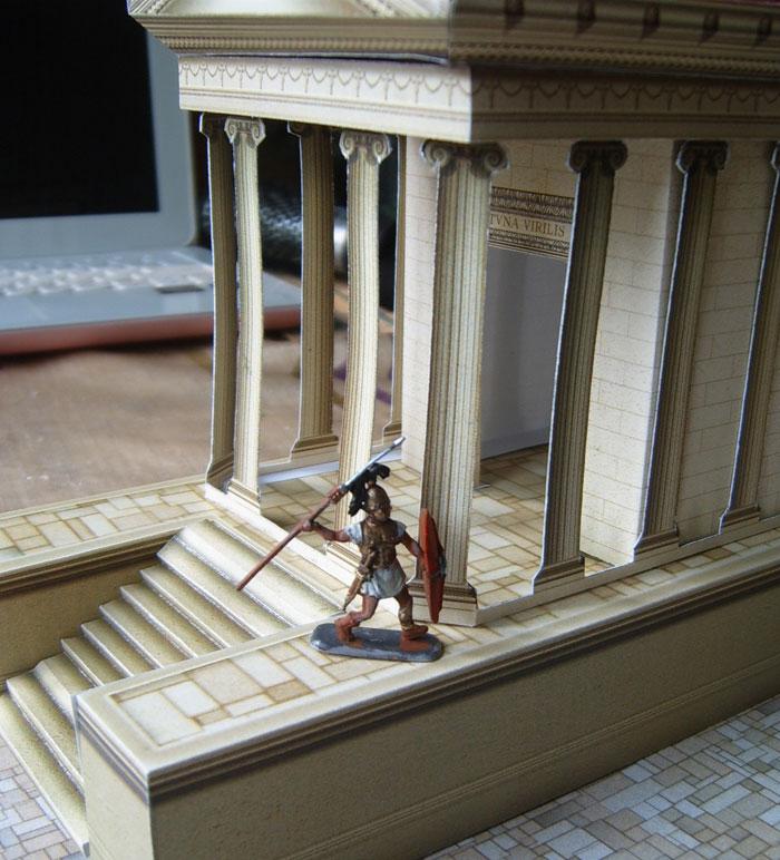 Paper model: Roman temple 1/72