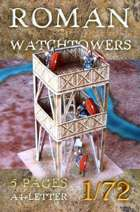 Roman camp's watchtower. Paper scenery models.