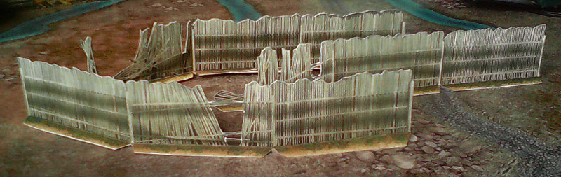 Paper model: Country Fences. 28 mm, 1/72, 15 mm Scale and less...
