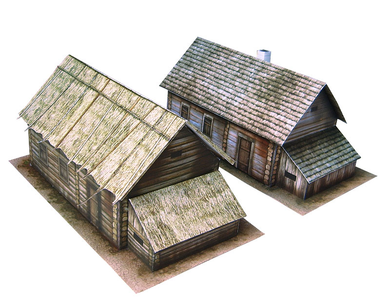 Paper model: Russian Country House. 28 mm Scale and less...