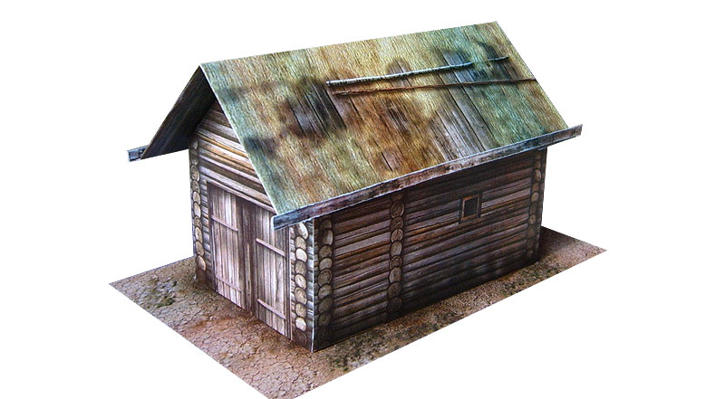 The paper model: Russian Hayloft. 28 mm Scale and less...