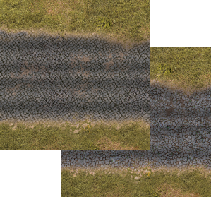 Napoleonic Style Stone Roads set 6mm/10mm. Modular Paper 2D Scenery System