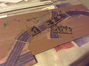 Napoleonic Style Stone Roads set 6mm/10mm. Modular Paper 2D Scenery System.