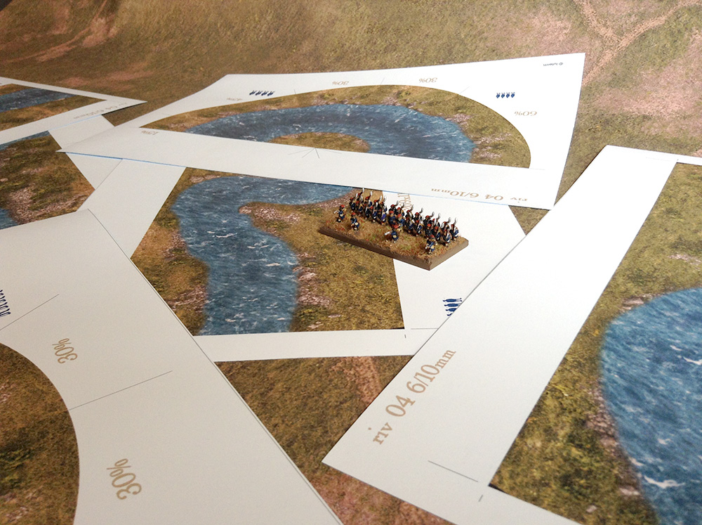 River Stream (60/30mm) scale 6mm/10mm - WargamePrint | Foldable Paper  Scenery | Wargame Vault