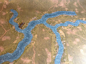 River Stream (60/30mm) 6mm/10mm. Modular Paper 2D Scenery System.