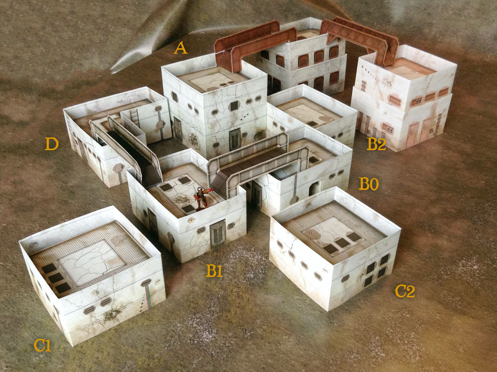 graphic about Free Printable Model Buildings known as Sci-fi Design and style Structures