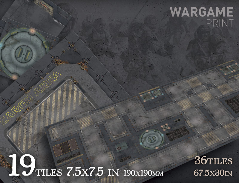 Sci-Fi Base Tiles Wargame Modular 2D Paper Scenery - WargamePrint |  Foldable Paper Scenery | DriveThruRPG com