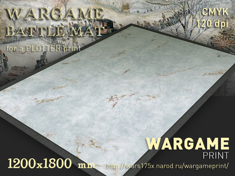 Wargame Battle mat (Snow plain 041)